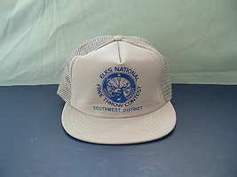 Vintage retro Elks National free throw contest snapback gray  mesh truck... - $24.70