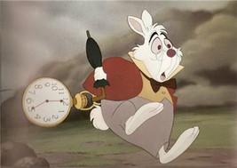 Alice in Wonderland White Rabbit Walt Disney Productions Vintage Lobby Card - $55.99