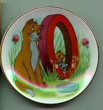 Aristocats O'Malley miniature Porcelain Disney  WDP Japan Plate - $29.99