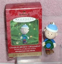 Charlie Brown Hallmark Keepsake Handcrafted ornament Artist Bob 1993 - $20.27