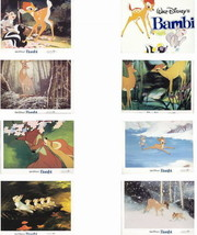 Disney - Bambi-  8 -  Lobby Cards - very hard to find from - 1982 - $125.00