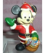 Disney Mickey Mouse with a sack of toys dressed as Santa Clause - $19.99