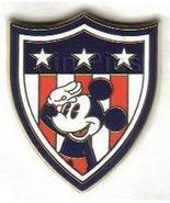Disney Mickey Shield Americana Flag patriotic Authentic Disney pin/pins - $22.09