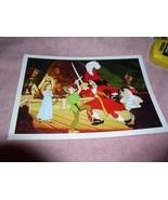 Disney Peter Pan Capt. Hook dulling on ship Sliver Seal Lithograph - $19.33