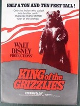 Disney magic King of Grizzlies History 1970 Advertising  Promotional item - $25.15