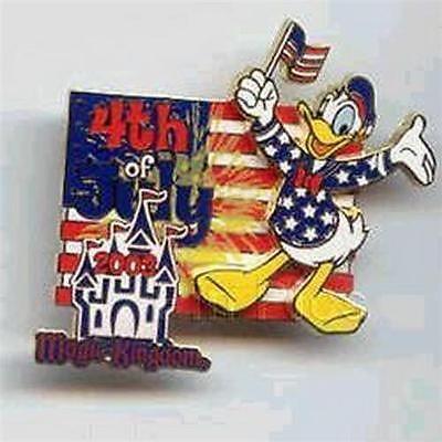 Donald Duck  Magic KingdomJuly 4th WDW  Patriotic Authentic Disney pin/pins