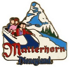 Disneyland Attraction  Matterhorn Bobsleds Authentic Disney DL  pin - $28.59