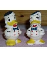 Donald Duck Vintage  marked Walt Disney Salt & Pepper - $37.72