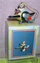 Emmett Kelly Jr. Airplane Pilot  circus clown Flambro MIB ornament - $32.99