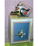 Emmett Kelly Jr. Airplane Pilot  circus clown Flambro MIB ornament - $32.99