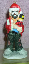 Emmett Kelly Jr. circus clown holding Nutcracker w/ Santa Hat  Flambro o... - $22.99
