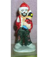 Emmett Kelly Jr. circus clown holding Nutcracker w/ Santa Hat  Flambro o... - $22.99