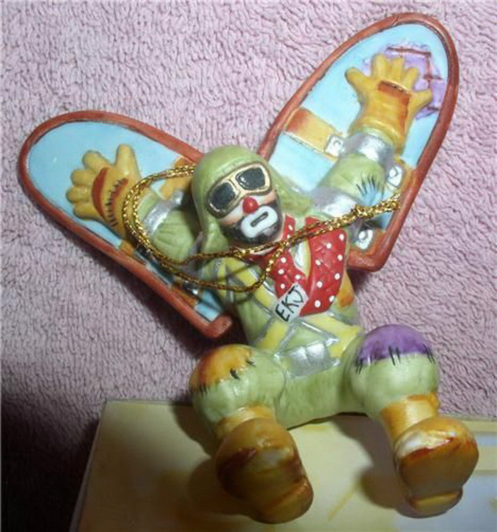 Primary image for Emmett Kelly Jr. flying circus clown  Flambro MIB ornament