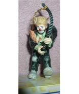 Emmett Kelly Jr. rope climber circus clown  Flambro MIB ornament - $23.21