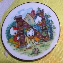 Huey Dewey Louie Nephew Ducks  Porcelain WDP Japan Disney  Plate - $25.99