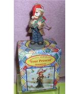 Little Emmett Kelly circus clown Little Emmett Present Flambro MIB ornament - $18.57