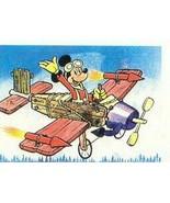 Mickey Mouse  Air Plane Pilot Vintage Diseny 3d Lenticular flicker Print - $19.99