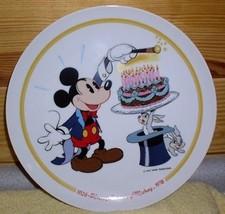 Mickey Mouse Magician Happy Birthday  Disney plate - $30.38