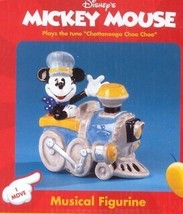 Mickey Train Engineer Disney Music Box made of Porcelain MIB - $49.99