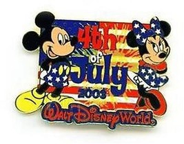 Mickey and Minnie WDW Cast Exclusive July 4 Patriotic Authentic Disney p... - $35.95
