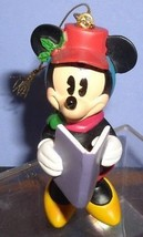 Minnie Mouse caroling with song book Disney ornament - $16.89