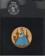 Princess Cinderella Gold Coin Authentic Disney pin on Card LE 250 Pin - $95.99