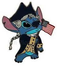 Stitch as George Washington flag Authentic  WDW Cast Exclusive Disney Pin - $26.95