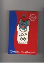 Stitch USA Olympic Logo original card from Lilo and Stitch authentic Disney  pin - $29.99