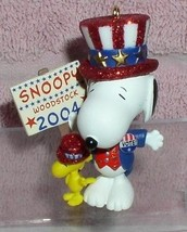 Snoopy dress as Uncle Sam running for president  Miniature ornament - $23.21