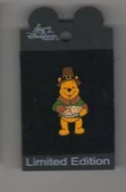 Winnie the Pooh pilgrim Thanksgiving  AUTHENTIC Disney on card Pin - $33.99