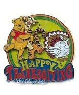 Winnie the Pooh & Tigger Thanksgiving  AUTHENTIC Disney on card Pin - $55.99