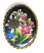 Older Vintage Hand Painted Flower Floral Brooch... - $45.00