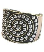 Mixed Metal Spiral Cuff Bracelet by Anju Jewelry - $25.00