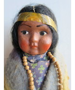 Vintage Skookum Doll 6-1/2 Inch Compo Face Mark... - $60.00