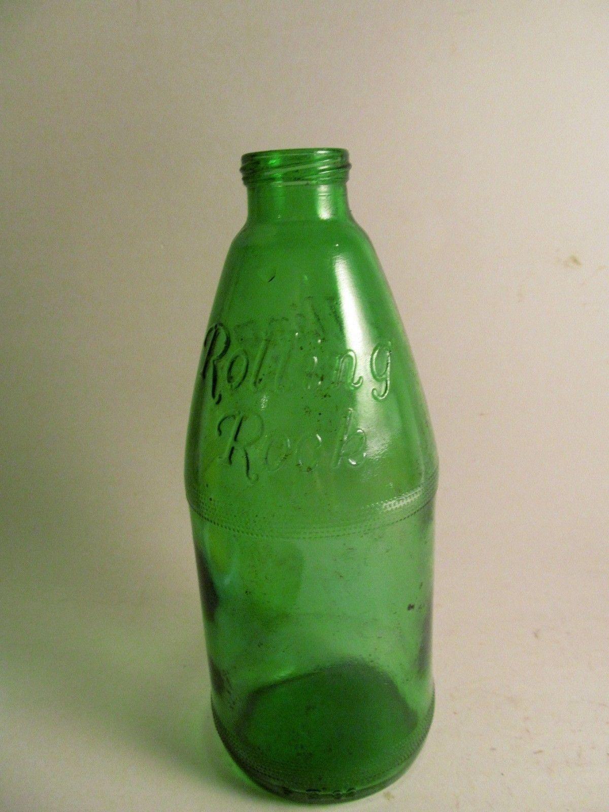 vintage rolling rock beer bottle anchor hocking latrobe