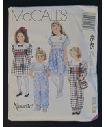 McCalll's #4545 Nannette Girls Dress/Jumpsuit/B... - $5.99