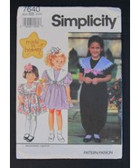 Simplicity #7640 Made In Heaven Girls Dress/Jum... - $9.95