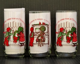 3 VINTAGE  HOLLY HOBBIE & ROBBIE COCA COLA TUMBLERS #2 & 3 OF 4 LTD ED  - $20.00