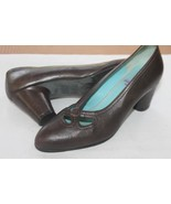 "THIERRY RABOTIN SIZE 35 1/2 BROWN 2 1/2"" HEEL MADE IN ITALY PUMPS SHOES - $33.66"