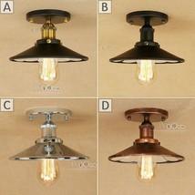 Vintage Industrial Barn Reflector Flush Mount E27 Light Ceiling Lamp Fixture - $62.28+