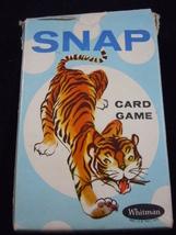 Vintage Whitman Snap Children's Card Game Tiger Box - $4.99