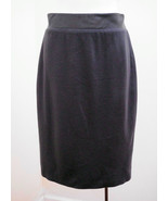 Modern XS Skirt Gray Pencil Knee Length Lined Exposed Zip Career NWT New - $23.71