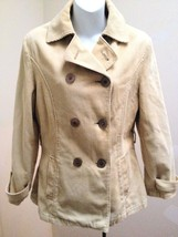 Sz S Beige  Peacoat Corduroy Double Breasted Jacket Valley Mouth (Asian L) - $15.95