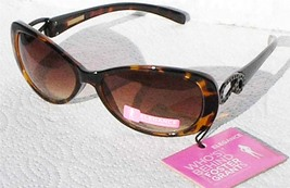 FOSTER GRANT WINDSOR WOMEN´S TORTOISE SUNGLASSES PAISLEY DETAIL - $17.99