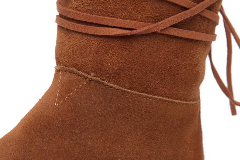 Auth TOMS Nepal Flat Short Boot w/ Trim - Chestnut w/ dust cover & box sizes 5-9