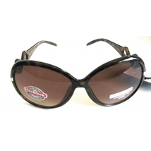 FOSTER GRANT FOSTER TORTOISE SUNGLASSES WITH INTERLOCKING TRIANGLES - $21.99