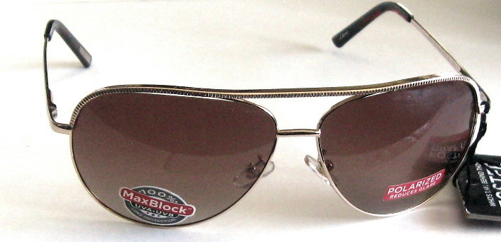 Primary image for FOSTER GRANT POLARIZED AVIATOR GOLD WITH AMBER LENSES