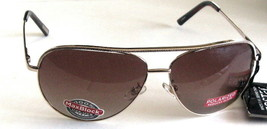 FOSTER GRANT POLARIZED AVIATOR GOLD WITH AMBER LENSES - $24.99