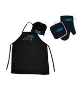 NFL Carolina Panthers Barbeque Apron, Chef's Hat and Pot Holder Deluxe Set - $27.86