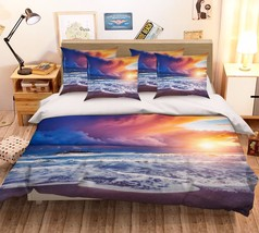 3D Sunset Sea 27 Bed Pillowcases Quilt Duvet Cover Set Single Queen King Size AU - $64.32+